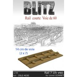 Rail courte Voie de 60
