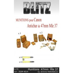 Munitions pour canon antichar de 47mm Mle 37