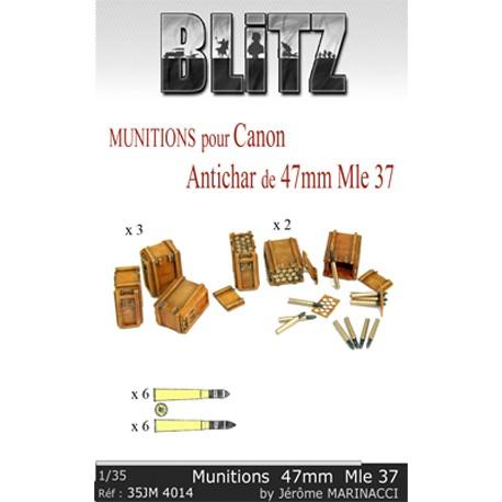 Munitions pour canon antichar de 47mm Mle 37
