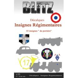"""Décalques  Insignes """"régimentaires"""""""