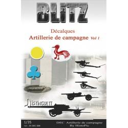 Décalques Artillerie Campagne Vol 1