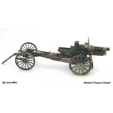 155mm C  Schneider Mdl 17 - Roue bois & Avant train
