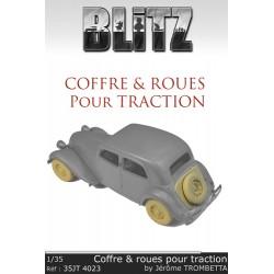 Coffre & roues pour traction