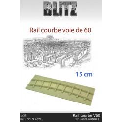 Rail courbe Voie de 60