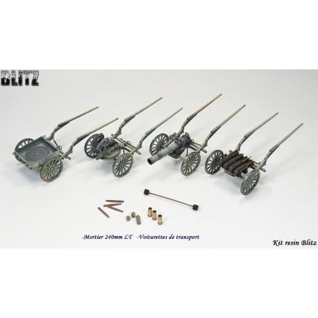Voiturettes transport (x3) 240mm LT Mle 16 Batignolles