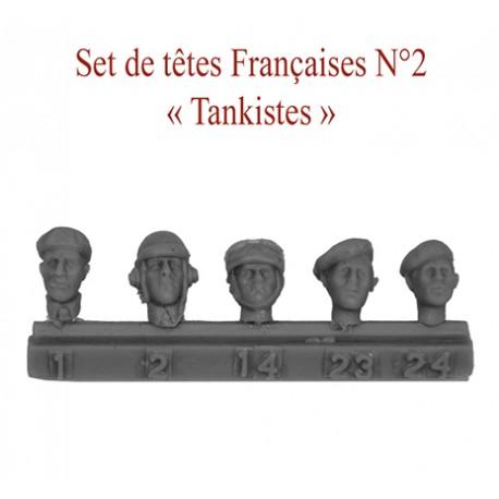 "Set of heads Fr N°2 "" Tankistes"""
