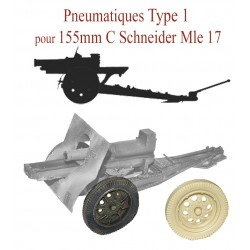 Type 1 pneumatic for 155mm C Schneider 1917
