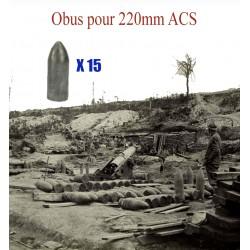 Obus  pour 220mm ACS