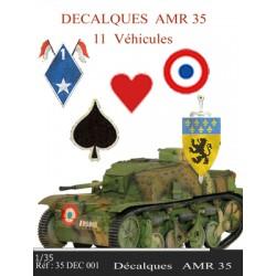 Décalques  AMR35