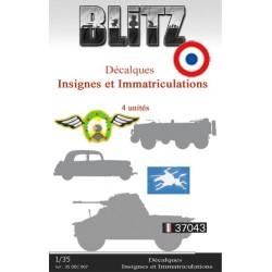 Décalques  Insignes et immatriculations