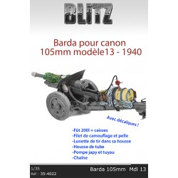 Barda pour canon 105mm Mdl 13 - 1940
